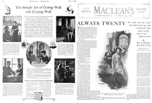 Article Preview: ALWAYS TWENTY, April 1924 | Maclean's