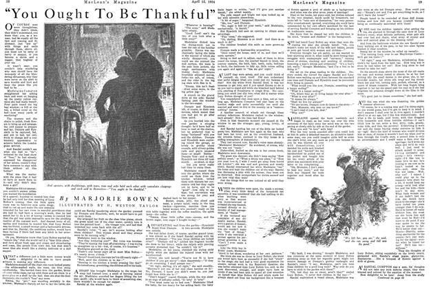 """Article Preview: """"You Ought To Be Thankful"""", April 1924 