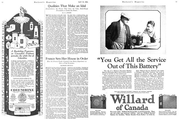 Article Preview: France Sets Her House in Order, April 1924 | Maclean's