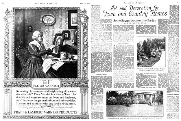 Article Preview: Art and Decoration for Town and Country Homes, April 1924 | Maclean's