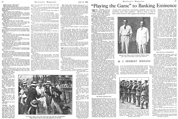 "Article Preview: ""Playing the Game"" to Banking Eminence, April 1924 