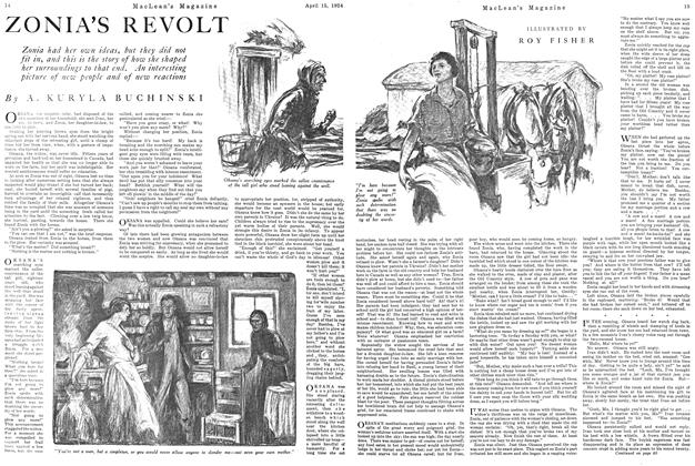 Article Preview: ZONIA'S REVOLT, April 1924 | Maclean's