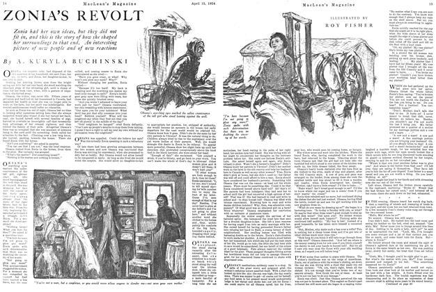 Article Preview: ZONIA'S REVOLT, April 1924 | Maclean's