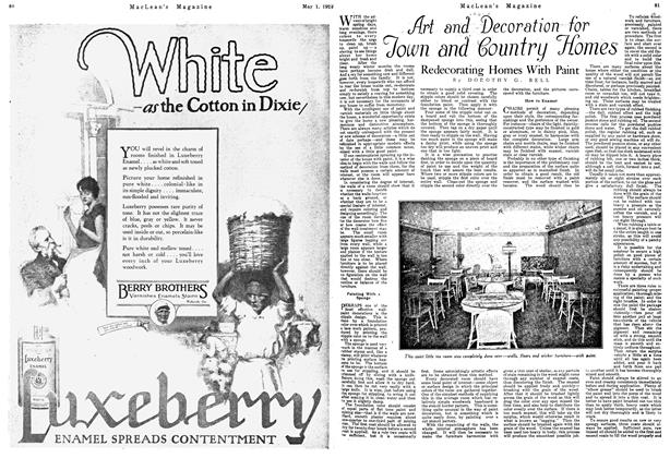 Article Preview: Redecorating Homes With Paint, May 1924 | Maclean's