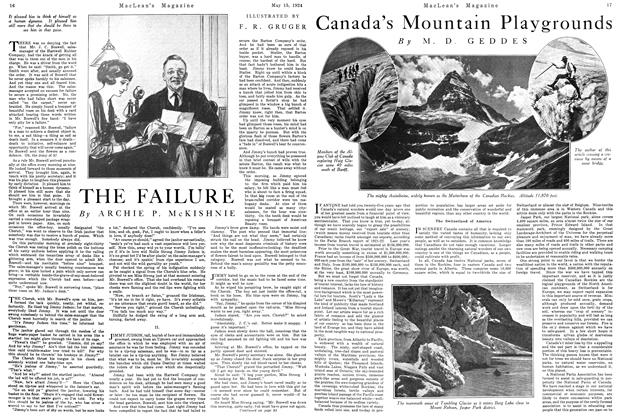 Article Preview: Canada's Mountain Playgrounds, May 1924 | Maclean's