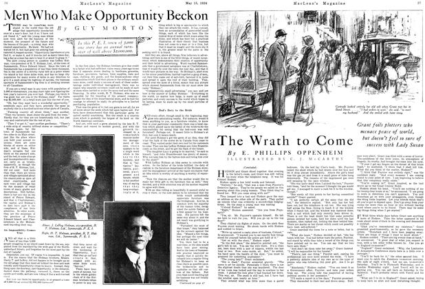 Article Preview: Men Who Make Opportunity Beckon, May 1924 | Maclean's