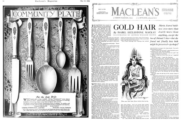 Article Preview: GOLD HAIR, May 1924 | Maclean's