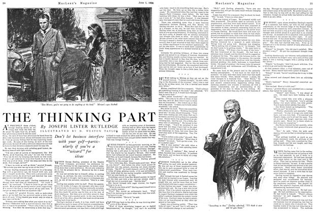 Article Preview: THE THINKING PART, June 1924 | Maclean's