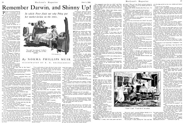 Article Preview: Remember Darwin, and Shinny Up!, June 1924 | Maclean's