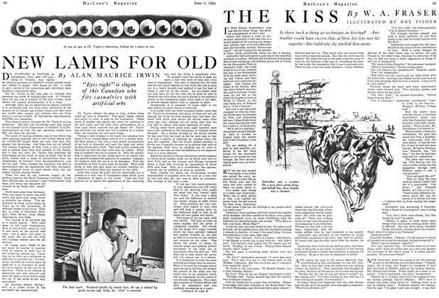 Article Preview: THE KISS, June 1924 | Maclean's