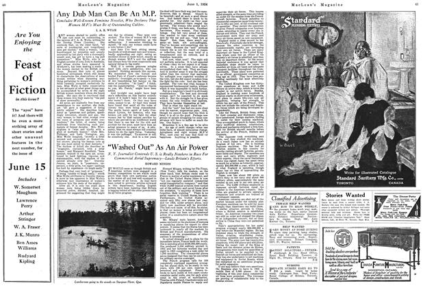 Article Preview: Any Dub Man Can Be An M.P., June 1924 | Maclean's