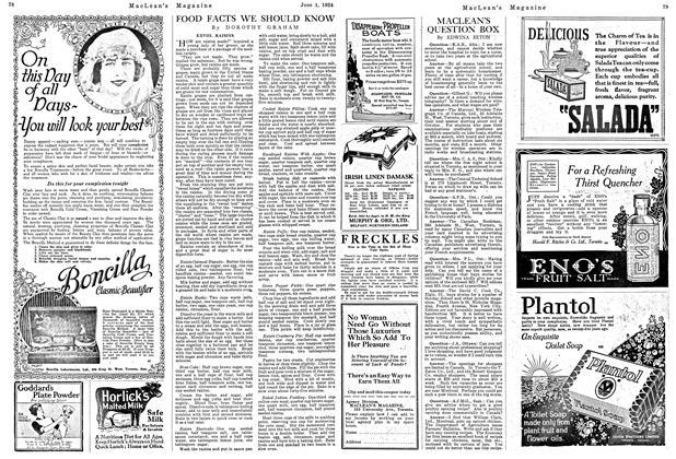 Article Preview: MACLEAN'S QUESTION BOX, June 1924   Maclean's