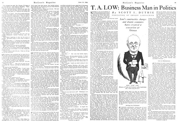 Article Preview: T. A. LOW: Business Man in Politics, June 1924 | Maclean's