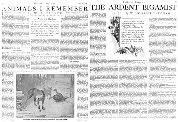 Article Preview: THE ARDENT BIGAMIST, June 1924 | Maclean's