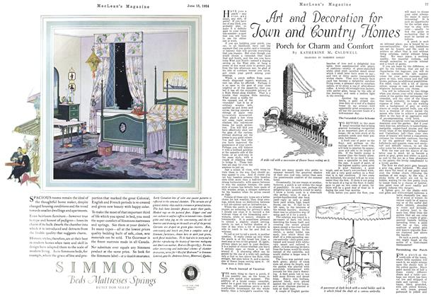 Article Preview: Art and Decoration for Town and Country Homes, June 1924 | Maclean's