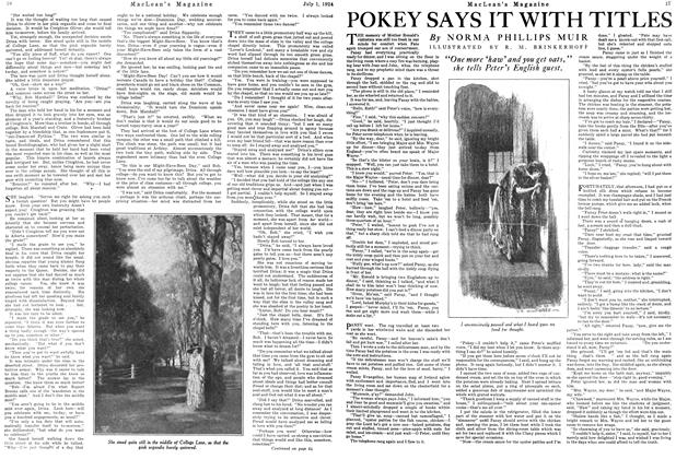 Article Preview: POKEY SAYS IT WITH TITLES, JULY 1ST 1924 1924 | Maclean's