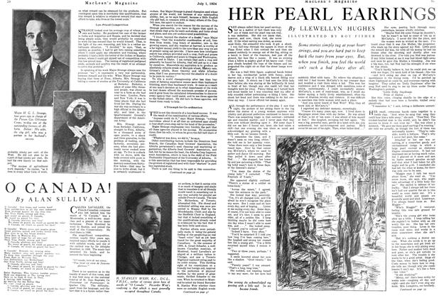 Article Preview: HER PEARL EARRINGS, JULY 1ST 1924 1924 | Maclean's