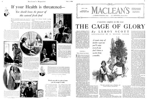 Article Preview: THE CAGE OF GLORY, JULY 1ST 1924 1924 | Maclean's