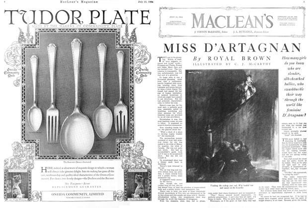 Article Preview: MISS D'ARTAGNAN, July 1924 | Maclean's