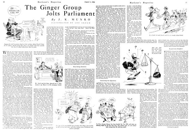 Article Preview: The Ginger Group Jolts Parliament, August 1924 | Maclean's