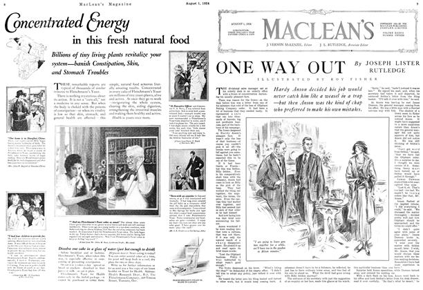 Article Preview: ONE WAY OUT, August 1924 | Maclean's