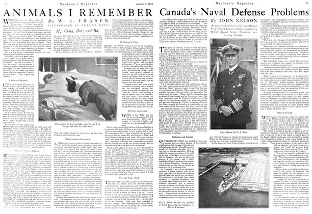 Article Preview: Canada's Naval Defense Problems, August 1924 | Maclean's