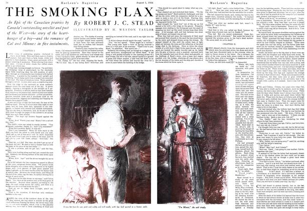 Article Preview: THE SMOKING FLAX, August 1924 | Maclean's