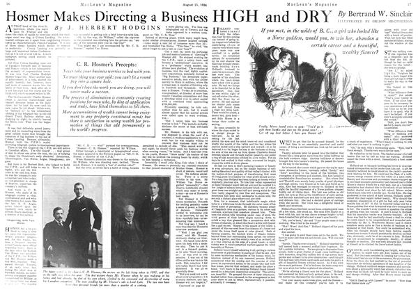 Article Preview: Hosmer Makes Directing a Business, August 15th 1924 1924 | Maclean's