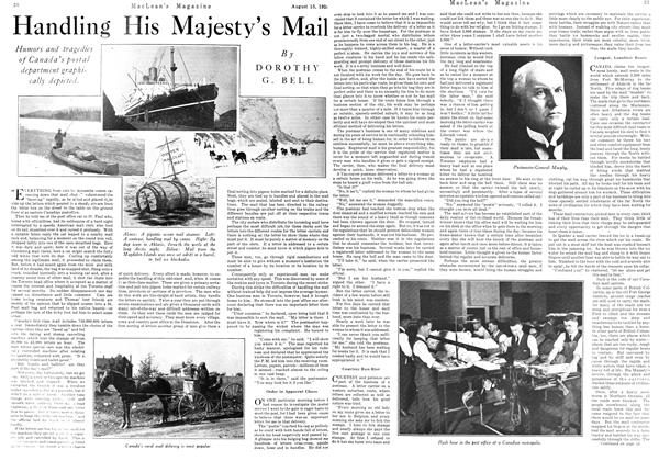 Article Preview: Handling His Majesty's Mail, August 15th 1924 1924 | Maclean's