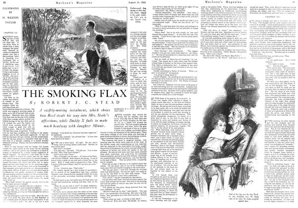 Article Preview: THE SMOKING FLAX, August 15th 1924 1924 | Maclean's