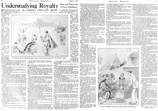 Article Preview: Understudying Royalty, August 15th 1924 1924 | Maclean's