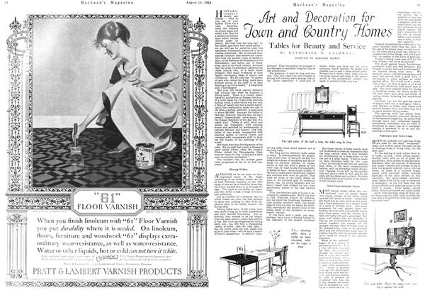 Article Preview: Art and Decoration for Town and Country Homes, August 15th 1924 1924 | Maclean's