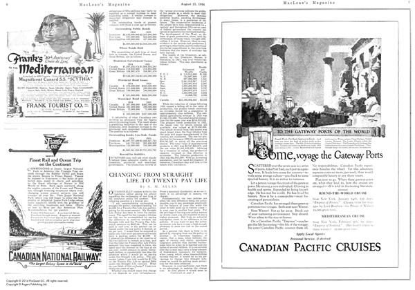 Article Preview: CHANGING FROM STRAIGHT LIFE .TO TWENTY PAY LIFE, August 15th 1924 1924   Maclean's