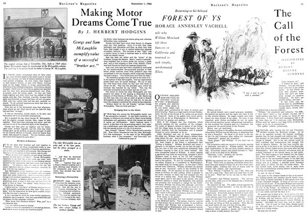 Article Preview: Making Motor Dreams Come True, September 1924 | Maclean's