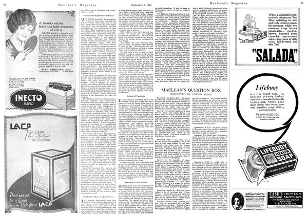 Article Preview: MACLEAN'S QUESTION BOX, September 1924 | Maclean's
