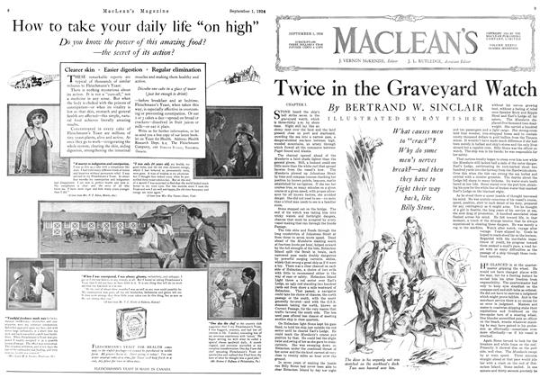 Article Preview: Twice in the Graveyard Watch, September 1924 | Maclean's