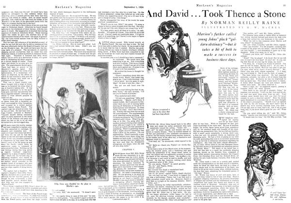 Article Preview: And David . . . Took Thence a Stone, September 1924 | Maclean's