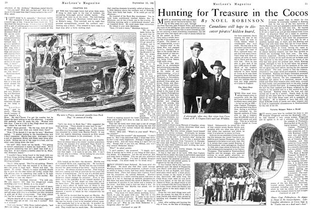 Article Preview: Hunting for Treasure in the Cocos, September 1924 | Maclean's