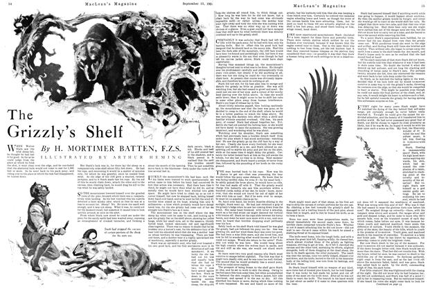 Article Preview: The Grizzly's Shelf, September 1924 | Maclean's