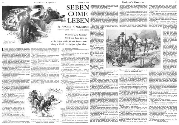 Article Preview: SEBEN COME 'LEBEN, October 1924 | Maclean's