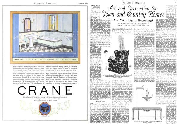Article Preview: Art and Decoration for Town and Country Homes, October 1924 | Maclean's