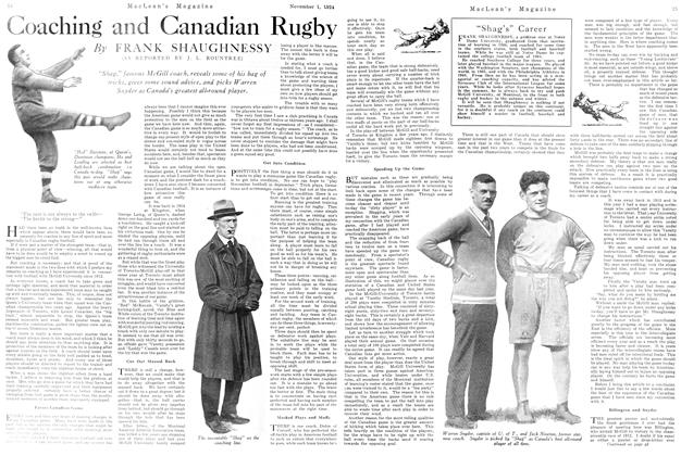 Article Preview: Coaching and Canadian Rugby, November 1924 | Maclean's