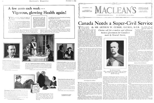 Article Preview: Canada Needs a Super-Civil Service, November 1924 | Maclean's