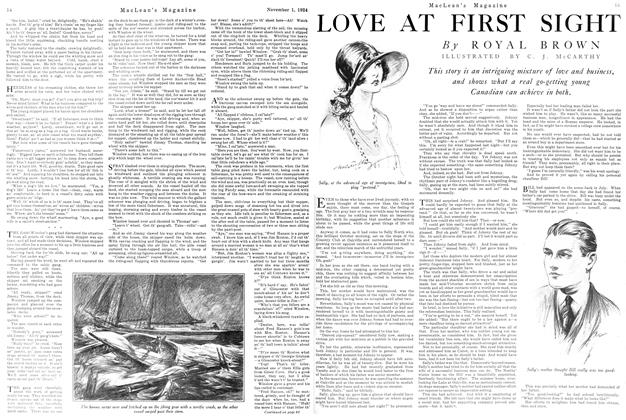 Article Preview: LOVE AT FIRST SIGHT, November 1924   Maclean's