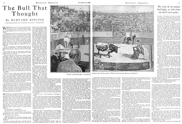 Article Preview: The Bull That Thought, November 1924   Maclean's