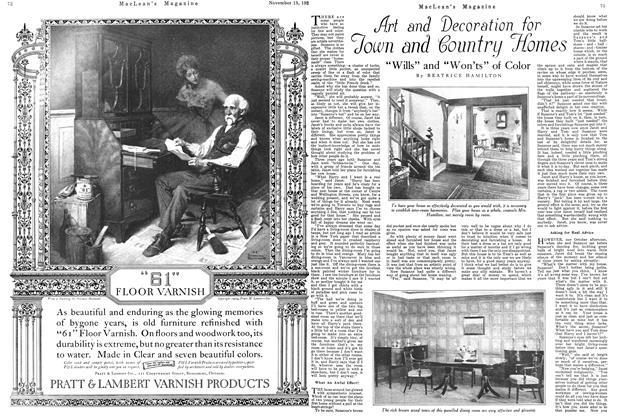 Article Preview: Art and Decoration for Town and Country Homes, November 1924 | Maclean's