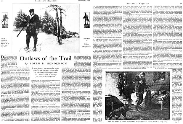Article Preview: Outlaws of the Trail, December 1924 | Maclean's