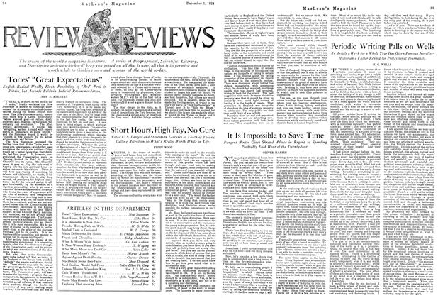 Article Preview: Periodic Writing Palls on Wells, December 1924   Maclean's