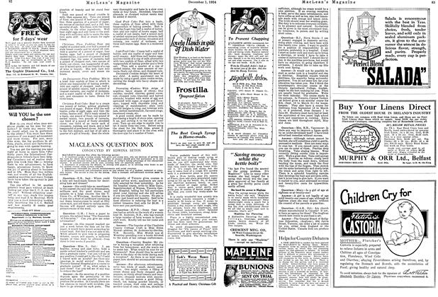 Article Preview: MACLEAN'S QUESTION BOX, December 1924 | Maclean's
