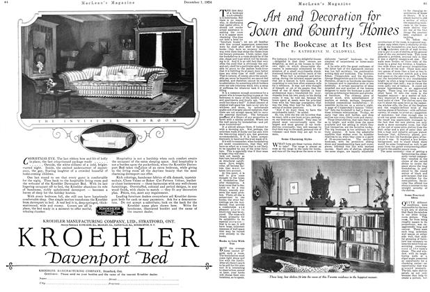 Article Preview: Art and Decoration for Town and Country Homes, December 1924 | Maclean's